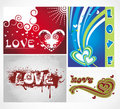 Free Various Colorful Heart Background Set For Your Des Royalty Free Stock Photos - 15388328