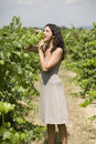 Free Woman Eating Grapes Stock Images - 15389734