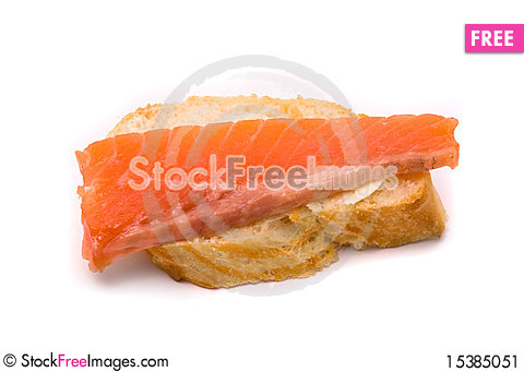Free Sandwich With Red Fish Stock Image - 15385051