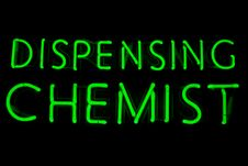 Free Dispensing Chemist Neon Sign Stock Images - 15380724