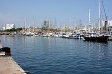 Marina In Barcelona Royalty Free Stock Photography
