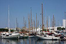 Marina In Barcelona Stock Photos
