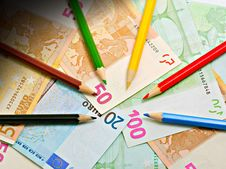 Free Pencils And Euro Royalty Free Stock Images - 15380959