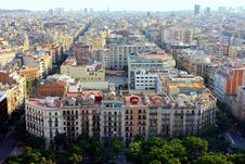 Free Panoramic View Of Barcelona Stock Photo - 15381130
