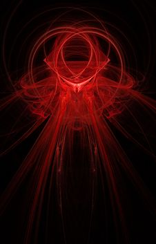 Big Abstract Fractal On Black Background Stock Photos