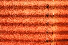 Rusty Corrugated Metal Background Royalty Free Stock Images