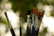 Free Paint Brushes Stock Image - 15382221