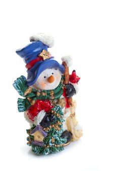 Free Ceramic Snowman Royalty Free Stock Photos - 15382418