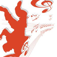 Free Abstract Musical Lines With Notes. Dance Stock Image - 15383271