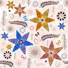 Free Pink-white Seamless Floral Pattern Royalty Free Stock Photos - 15383758