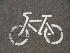 Free Bicycle Road Sign Royalty Free Stock Photography - 15384667