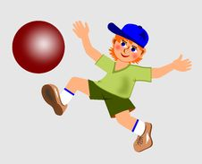 Free Little Boy With A Ball Stock Photo - 15385910