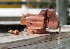 Free Old Rusty Vise Royalty Free Stock Images - 15386559