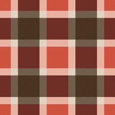Red Orange Scottish Pattern Royalty Free Stock Photos
