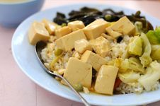 Free Vegetarian Bean Curd Cuisine Stock Photography - 15388262