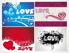 Free Various Colorful Heart Background Set For Your Des Stock Photos - 15388383