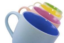 Free Colored Cups Royalty Free Stock Photo - 15388635