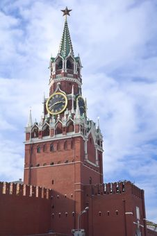 Free Spasskaya Tower Of Moscow Kremlin Stock Images - 15389084