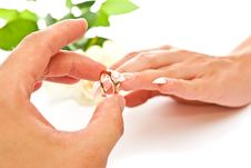Ring And Hands Stock Photography