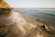 Free Waves On A Beach Shoreline Stock Photos - 15389223