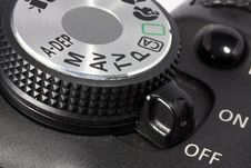 Free Dial And On/off Button On DSLR Camera Royalty Free Stock Photos - 15389518