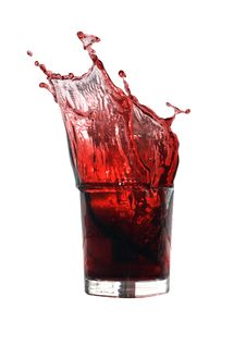 Free Splashing Cherry Juice Royalty Free Stock Photography - 15389667