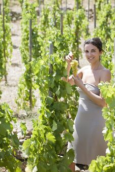 Free Woman With Grapes Royalty Free Stock Photo - 15389865