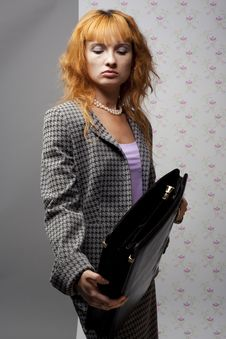 Free The Girl In A Gray Jacket Royalty Free Stock Images - 15390069