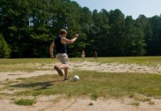 Family Soccer Game Royalty Free Stock Photos