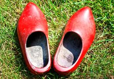 Free Red Wooden Shoes Stock Photos - 15399213