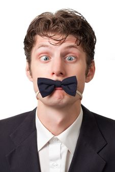 Free Goggle-eyed Man With A Butterfly Tie Royalty Free Stock Photo - 15399375