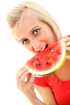 Free Watermelon Girl Royalty Free Stock Photos - 15399498