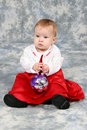 Free Baby Girl In Red Christmas Dress Stock Photos - 1543283
