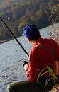 Free Fisherman Considering Bait Stock Image - 1545711