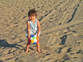 Free Girl Playing At The Beach Royalty Free Stock Photography - 1549387