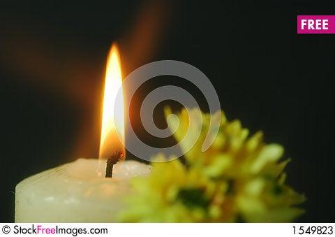 The tea candle Stock Photo