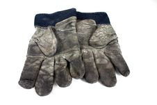 Free Used Safety Gloves Royalty Free Stock Photography - 1543447