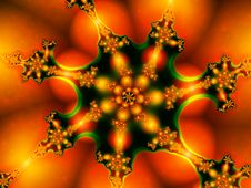 Free Red Fractal Royalty Free Stock Image - 1543486