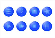 Free Blue Glass Buttons Royalty Free Stock Image - 1543746