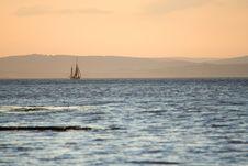 Sailing At Dusk Stock Photos