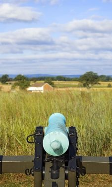 Free Civil War Cannon From Behind Gettysburg Pennsylvania Stock Photo - 1545140