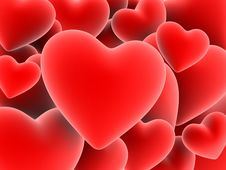Free Red Hearts Royalty Free Stock Photos - 1545238