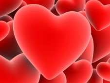 Free Red Hearts Stock Photography - 1545252