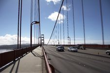 Free Traffic On Golden Gate Bridge Royalty Free Stock Photos - 1545508