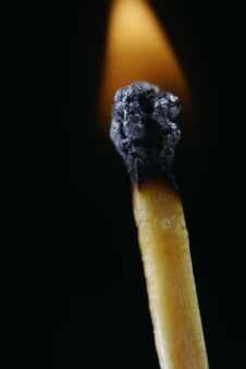 Match Head On Fire Stock Image