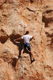 Free Climbing The Wall Royalty Free Stock Photo - 1546575