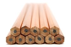 Pile Of Wooden Pencils For Plotting Stock Images