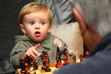 Free Young Boy Playing Chess Royalty Free Stock Images - 1546919