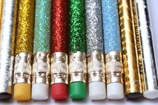 Free Set Of Celebratory Sparkling Pencils Laying In Parallel Royalty Free Stock Photo - 1547245