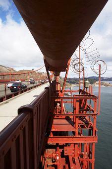 Main Cable Of Golden Gate Bridge Stock Image